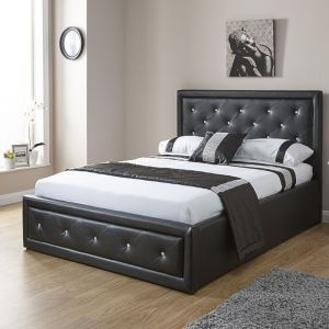 Hollie Leather Ottoman Bed