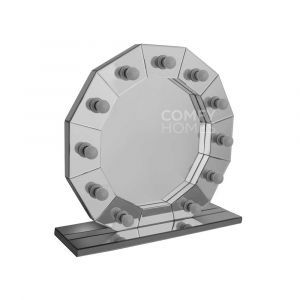 Mirrored Dodecagon Hollywood Mirror