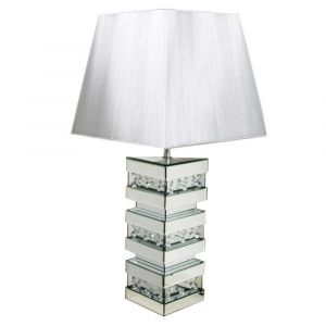 Floating Crystal Block Table Lamp