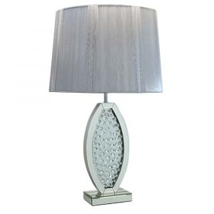 Floating Crystal Oval Table Lamp