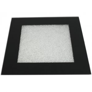 Black Large Coaster With Clear Crystals