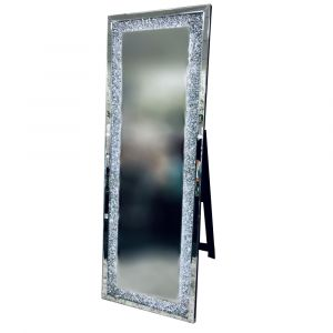 Crushed Crystal 150 X 55Cm Led Cheval Mirror (Milano)