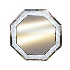 Crushed Crystal 90 X 90Cm Led Octagon Wall Mirror (Milano)