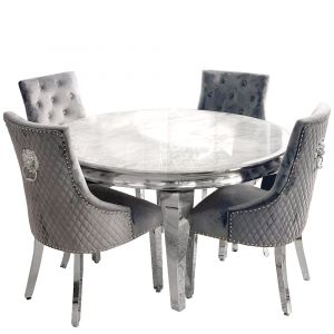 Lewis Round Marble Dining Table