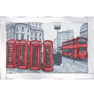 London Bus Mirrored Picture Frame