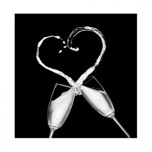 Love Champagne Black and White Custom Made Picture Frame