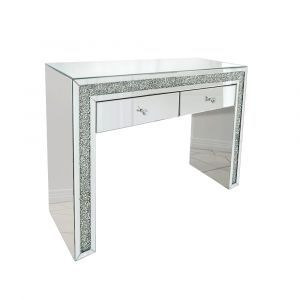 Crushed Crystal 2 Drawer Dressing Table (Milano)