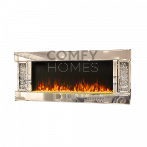 Crushed Crystal Wall Mount Real Heat Fireplace (Milano) - Pre Order