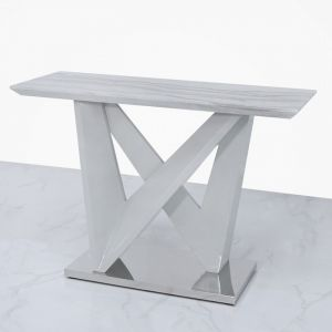 Avery Marble Effect Console Table