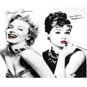 Marilyn & Audrey Red Lips Custom Made Picture Frame