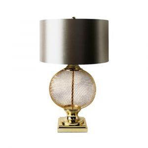 Gold Mesh Wire Table Lamp