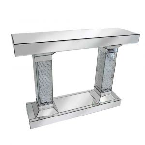 Floating Crystal Mirrored Console Table (Tower)