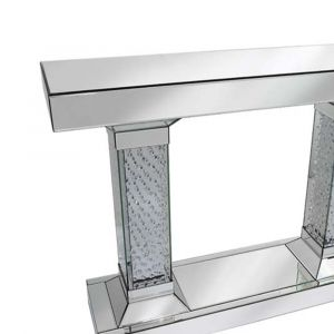 Floating Crystal Mirrored Console Table (Tower) Alternative