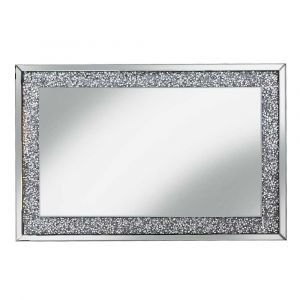Crushed Crystal 120 X 80Cm Bevelled Wall Mirror (Milano)