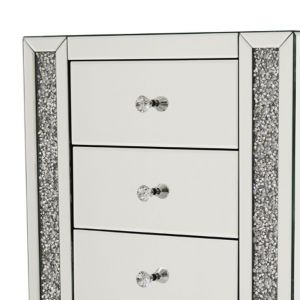 Mirrored Crushed Crystal 5 Drawer Chest (Milano) Alternative