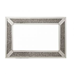 Crushed Crystal 120 X 80Cm Bordered Wall Mirror (Milano)