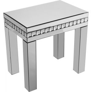 Diamond Mirrored Occasional Table