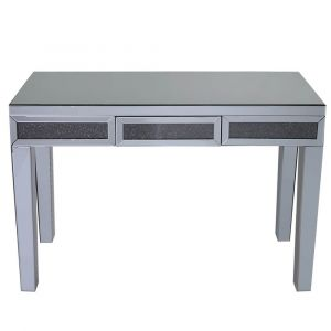 Mirrored Crushed Crystal 1 Drawer Dressing Table (Isabel) Alternative