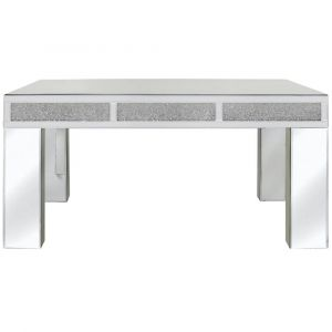 Mirrored Crushed Crystal Coffee Table (Isabel) Alternative