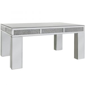 Mirrored Crushed Crystal Coffee Table (Isabel)