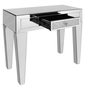 Mirrored Crushed Crystal Narrow Console Table (Isabel) Alternative