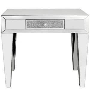 Mirrored Crushed Crystal Narrow Console Table (Isabel)