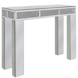 Mirrored Crushed Crystal Console Table (Isabel)