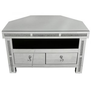 Mirrored Isabel Crushed Crystal Tv Stand (Isabel)
