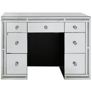 Mirrored Crushed Crystal 7 Drawer Dressing Table (Isabel)