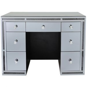 Mirrored Crushed Crystal 7 Drawer Dressing Table (Isabel) Alternative