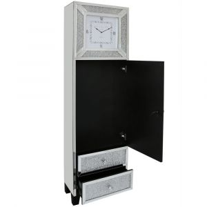 Mirrored Crushed Crystal Grandfather Clock (Isabel) Alternative