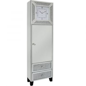 Mirrored Crushed Crystal Grandfather Clock (Isabel)