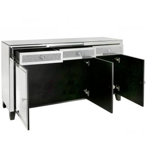 Mirrored Crushed Crystal Sideboard (Isabel) Alternative