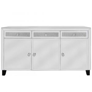 Mirrored Crushed Crystal Sideboard (Isabel)