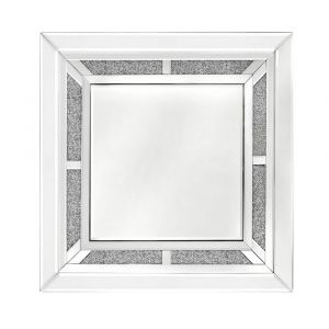 Crushed Crystal Square Wall Mirror (Isabel) Alternative
