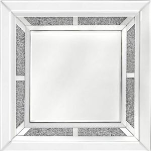 Crushed Crystal Square Wall Mirror (Isabel)