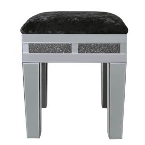 Mirrored Crushed Crystal Stool (Isabel) Alternative