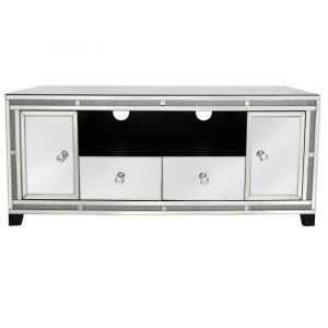Mirrored Crushed Crystal Tv Unit (Isabel)