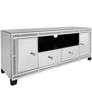 Mirrored Crushed Crystal Tv Unit (Isabel) Alternative
