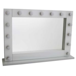 White Hollywood Large Standing Mirror