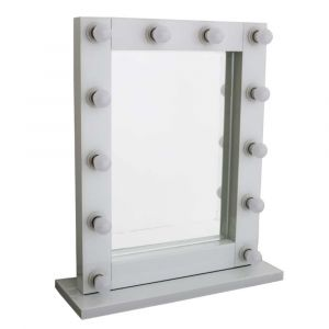 White Hollywood Standing Mirror