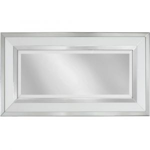 White Glass Large Wall  Mirror (Marco) Alternative