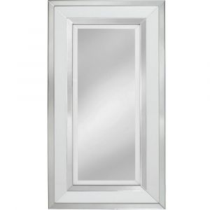 White Glass Large Wall  Mirror (Marco)