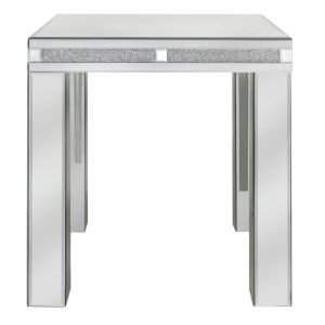 Mirrored Crushed Crystal End Table (Isabel)