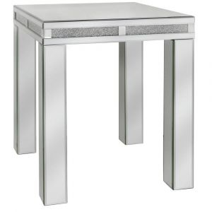 Mirrored Crushed Crystal End Table (Isabel) Alternative
