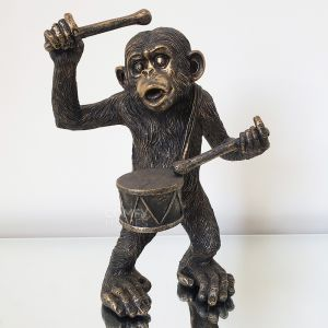 Monkey with Drum Ornament