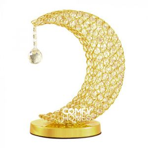 Crescent Moon Table Lamp (Gold)