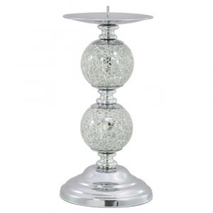 Double Ball Mosaic Candle Stick
