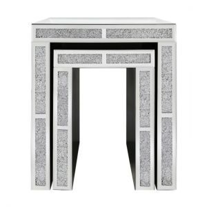 Milano Mirror Set of 2 Nest End Tables