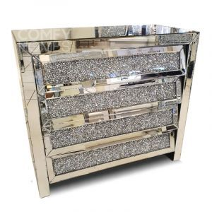 Crushed Crystal Slanted Drawer Chest (Milano)
